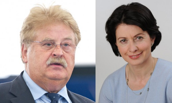 Elmar Brok and Barbara Lochbihler